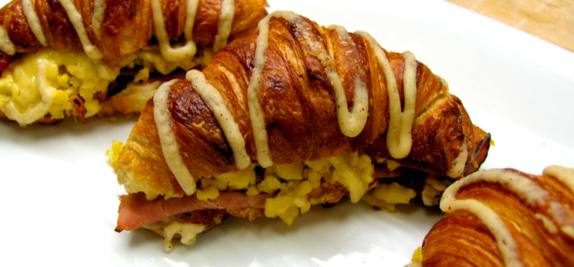 All- butter croissant egg & Bacon Sandwich